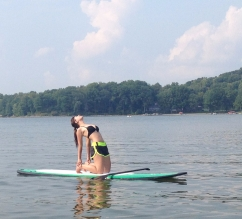 Self-Care: Exploring pleasures- Paddleboard yoga